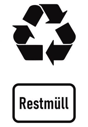 Abfall- Recyclingkennzeichnung