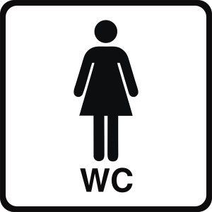 WC - Toilette: Türbeschriftung