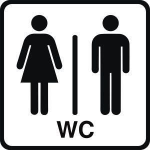 WC Piktogramm Damen-Herren
